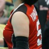 ≪女子バレー≫NEC対日立 1(試合に集中している娘たち)