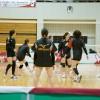 ≪女子バレー≫KUROBE対GSS 1(試合前のチーム練習「ジャージ」)